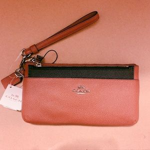 Coach Wristlet with Pop-out Pouch